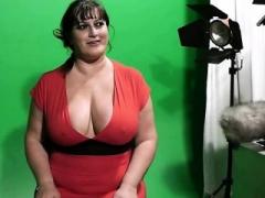 Mooie dikke vrouwen, Bruinharig, Hondjeshouding, Europees, Dik, Realiteit