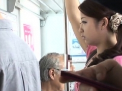Charming beauty lets a total stranger team fuck her in public