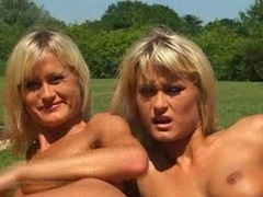 One cock and furthermore a pair of hot twins