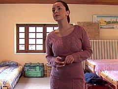 Chambre à dormir, Brunette brune, Mignonne, Gode, Européenne, Groupe, Orgie, Fête