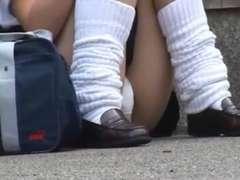 (softcore voyeur)  asian schoolgirls public upskirt pantys
