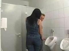 Brunette German In Bathroom