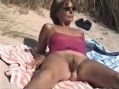 Amateur, Playa, Peludo, Al aire libre, Solo