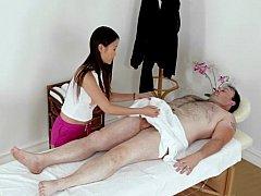 Asiatique, Chinoise, Branlette thaïlandaise, Massage, Chevaucher
