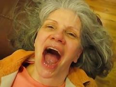 Grey haired granny fellation
