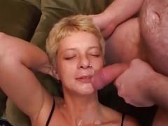 blonde german hoe first bukkake gangbang