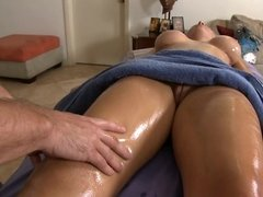 Sexy thing is getting a really hot deep tissue massage here
