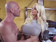 Bimbo seduces a married man into her slick and needy cunt
