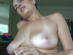 Blue Haired Non-pro Latina Creampie Is Nasty