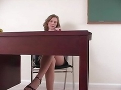 Annabel playing in pantyhose