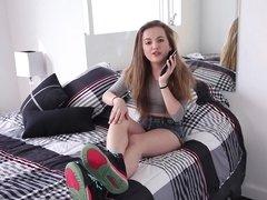 Fucking cute teen chick Marissa Mae in sexy POV