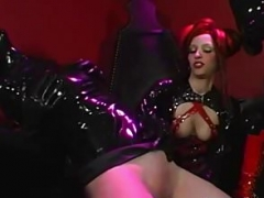 RubberDoll and besides Rubberella Spank Latex Whore Also with Sybian Orgasm!