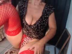 Sizeable Breasts Old Brunette