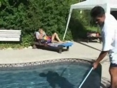 Pool Cleaner Makes love Housewife