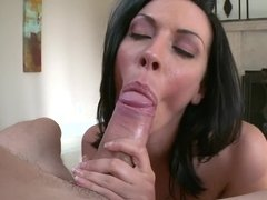 Rachel Starr POV blowjob shows her amazing oral skills