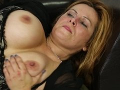 A busty bitch with large tits is feeling an awesome tit fuck