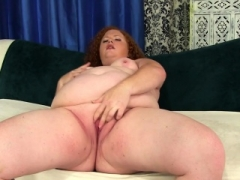 Obese Floozy Gets Herself Off with Fingers and besides Toys