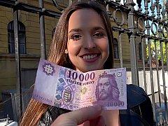 Leie, Europäisch, Ungarisch, Geld, Pov, Öffentlich, Muschi, Realität