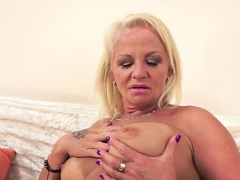 Big-breasted gilf fucked by lovers sizeable black fuck tool