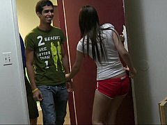 18 летние, Брюнетки, Одноклассница, Колледж, Подружка, Группа, Секс без цензуры, Тощие