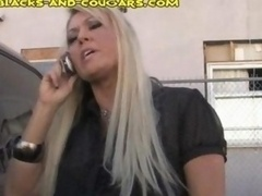 Cougar Seduces Young and fresh Black