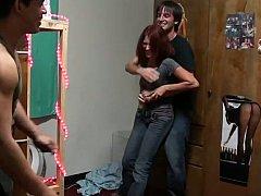 18 jaar, Jonge meid, Universiteit, Stel, Schattig, Hardcore, Roodharige vrouw, Mager