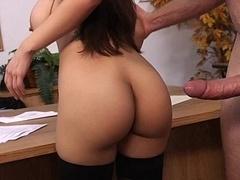Male orgasm at work