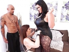 Cuban Big beautiful women Angelina Castro & King Noir Make Sara Jay Submit!