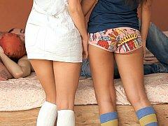 18 años, Morena, Linda, Grupo, Bragas, Colegiala, Flaco, Adolescente