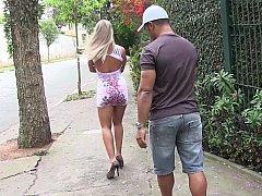 ベッドルーム, ブロンド, フェラチオ, ブラジル, ラティーナ, 淫乱熟女, 現実, フェラする