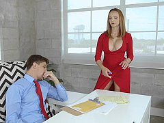 Американки, Большие сиськи, Грудастые, Постарше, В офисе, Сиськи