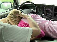 Блондинки, Минет, В машине, Колледж, Смазливые, Тощие, Студентка, Молоденькие