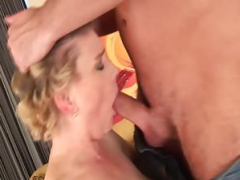 breasty hairy mature gets rough fucked