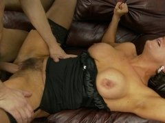 Hairy mom Chloe Wilder and a young dick get it on