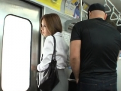 Sexy public sex for innocent looking babe who loves love pole