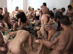 Milk sacks Blonde Cum Covered at Home Party