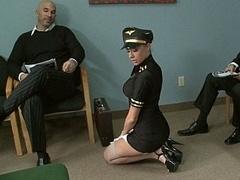 Smoking hot airline stewardess