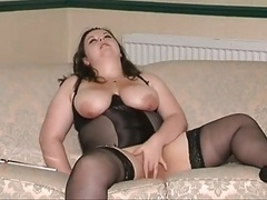 Chick in Black Girdle