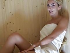 Leie, In den arsch, Masturbation, Sauna