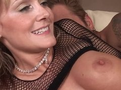 Classy babe Jerilyn acts like a total slut for his dick