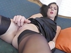 Mimi In Seamed Stockings and also Heels.mp4