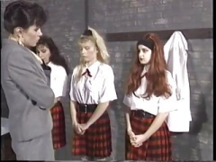 Babes school spanking part 1