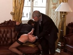 Immature italian intern gets a big fuck tool in the ass by his boss