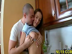 Sweet swedish Teen Taboo sex with More seasoned Brother in Kitchen