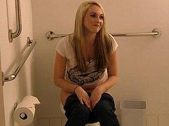 Leie, Schlafzimmer, Blondine, Studentin, Hochschule, Realität, Student, Toilette
