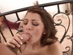 Aroused Teen Lexi Bloom Giving blowjob Weighty Knob