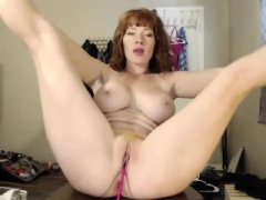 Redhead latina kitten with sizeable boobs was picked up