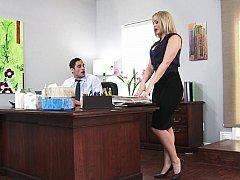 ブロンド, 淫乱熟女, オフィス