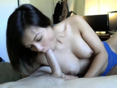 Dilettante cutie pie gives the most perfect handjob ever