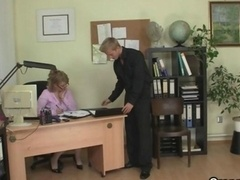 Hot office sex with old bitch